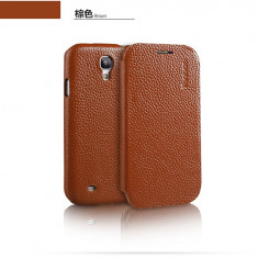 Husa Executive Piele Naturala Samsung Galaxy S4 i9500 by Yoobao Originala Brown - Husa Telefon