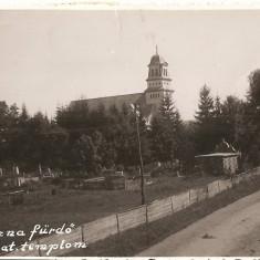 CPI (B2594) UNGARIA, ROMANIA, KOVASZNA FURDO ROM. KAT. TEMPLON, COVASNA, CIRCULATA 1927, STAMPILE, TIMBRE, Europa, Fotografie