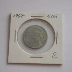 CMR1 - 5 LEI 1947 - Moneda Romania