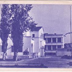 RPR, CP nuanta ALBASTRA circulata 1961, Ploiesti, atentie la SUPRASTAMPILA, casa pionerilor - Carte Postala Muntenia dupa 1918