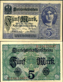 GERMANIA 5 MARK 1917 UNC