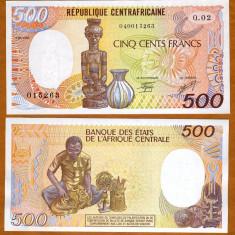 REPUBLICA CENTRAFRICANA 500 FRANCI 1987 UNC