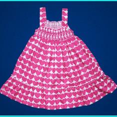 NOUA, DE FIRMA _ Rochie bumbac, DEBENHAMS _ fetite | 18 - 24 luni | 86 - 92 cm, Marime: Alta, Culoare: Roz