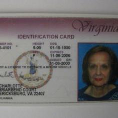 CARTE AMERICANA DE IDENTITATE EXPIRATA DIN 2005, America de Nord, Documente
