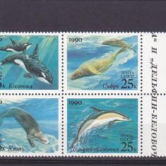 Fauna ,delfini serie comuna URSS-SUA ., Europa
