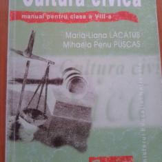 CULTURA CIVICA - Manual pentru clasa a VIII-a - Manual scolar corint, Clasa 8, Corint