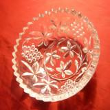Bol semicristal - ornamente florale ,d= 11,7 cm ,h= 4,7 cm