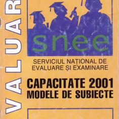CAPACITATE 2001 - MODELE DE SUBIECTE ED. PROGNOSIS - Carte Teste Nationale