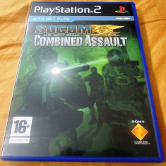 Joc Socom Combined Assault, PS2, original, 24.99 lei(gamestore)! - Jocuri PS2 Sony, Shooting, 16+, Single player