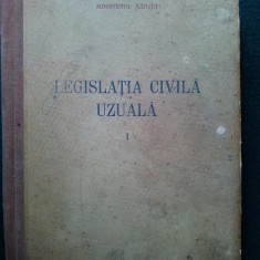 Legislatia civila uzuala vol. I Ed. Stiintifica 1956 - Carte Legislatie