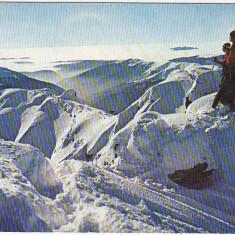 """CP necirculata  Muntii Fagaras-Varful """" Vanatoarea lui Buteanu"""" iarna"""