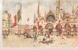 CPI (B2644) ITALIA. VENETIA, CHIESA DI S. MARCO, EDITURA A. SCROCCHI, CIRCULATA1925, STAMPILE, TIMBRU, Europa, Circulata, Printata