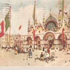CPI (B2644) ITALIA. VENETIA, CHIESA DI S. MARCO, EDITURA A. SCROCCHI, CIRCULATA1925, STAMPILE, TIMBRU, Europa, Printata