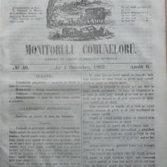 Principatele Unite , Monitorul comunelor , nr . 40 , Joi 4 Octombrie , 1862