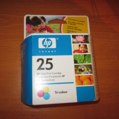 Hp 25 color sigilat original - Cartus imprimanta