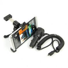 suport auto grila ventilatie HTC ONE M7 + incarcator auto htc + folie protectie ecran