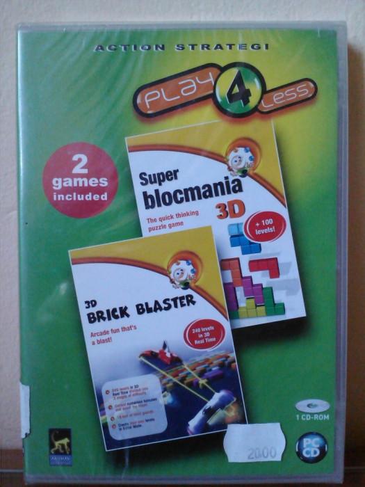 SUPER BLOCMANIA 3D - 3D BRICK BLASTER (PC) SIGILAT (ALVio) + sute de alte jocuri foto mare