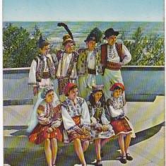 CP circulata 1973, port popular Constanta, serbarile marii, festival pionieresc - Carte Postala Dobrogea dupa 1918