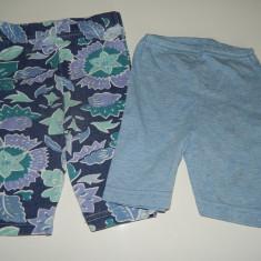 Set de doua perechi de pantalonasi/pantaloni scurti fetite, 3-6 luni, de vara, LICHIDARE DE STOC!, Din imagine