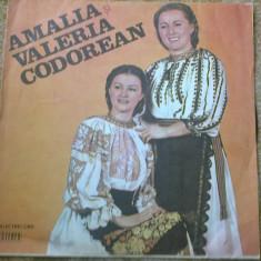 Amalia si Valeria Codorean disc vinyl Muzica Populara electrecord lp folclor romaneasc, VINIL