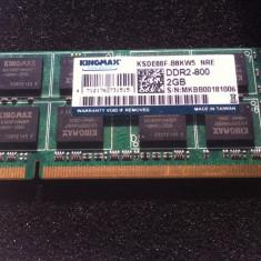 Kingston SODIMM 4GB DDR2 800Mhz KIT dual channel - Memorie RAM laptop