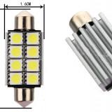 LED SOFIT FESTOON alb xenon C5W C10W 42 mm 8 SMD CANBUS FARA EROARE NUMAR vw bmw - Led auto EuropeAsia, Universal