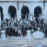 Federaţia Interaliată a Foştilor Combatanţi ), la mormantul Eroului Necunoscut - Fotografie veche