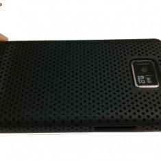 samsung galaxy s2 i9100 husa neagra silicon + folie ecran  gratis + expediere gratuita