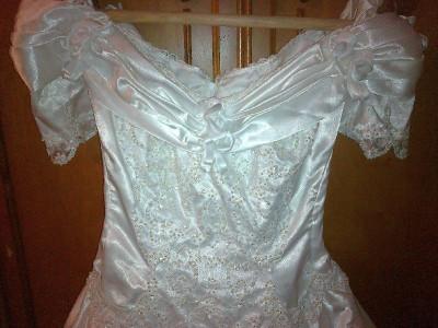 rochie de mireasa cu trena, marime 40-42 foto