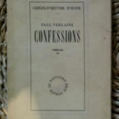 Verlaine CONFESSIONS NOTES AUTOBIOGRAPHIQUES Ed. du Bateau Ivre 1946