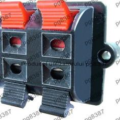Conector boxe 4 pini, montare pe panou - 123683
