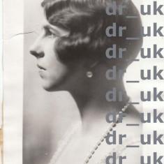 """Fotografie de presa Regina Elena sotia lui Carol de Romania, autentica si originala, datata 2 jul 1931, """"THE ASSOCIATED PRESS"""" USA"""