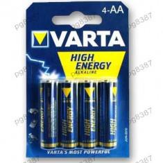 Baterie AA R6 Varta High Energy Alkaline-400076 - Baterie Aparat foto Varta, Tip AA (R6)