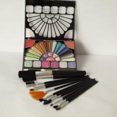 12 Pensule MARI Trusa 29 CULORI +2 APLICATOARE farduri ploape, trusa fard, machiaj makeup TR32-4 - Fard pleoape