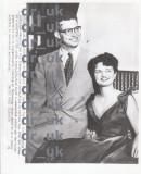 Fotografie de presa cu fiul Printesei Ileana (Stefan Lothringen-Hapsburg) si logodnica sa, apr.1954, UNITED PRESS , USA, Monarhie
