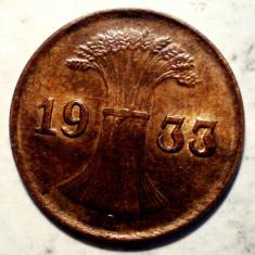 E.260 GERMANIA REICH 1 REICHSPFENNIG 1933 A XF/AUNC, Europa, Bronz