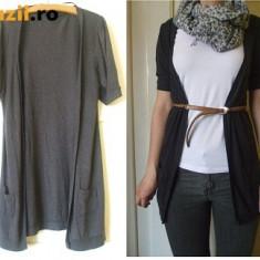 Cardigan de dama / bluza subtire VERO MODA gri inchis - Pulover dama Vero Moda, Marime: S, Bumbac