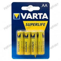 Baterie AA R6 Varta Superlife Zinc-Carbon Mignon-400081 - Baterie Aparat foto Varta, Tip AA (R6)