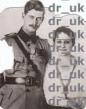 "Fotografie de presa Regele Carol II si sotia sa, autentica si originala, datata june 1919,""INTERNATIONAL NEWS PHOTOS"" NEW YORK, USA"