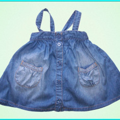 DE FIRMA → Sarafan blugi, subtire, de vara, H&M → fetite | 9—12 luni | 69—74 cm