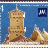 LP 941 - Centenarul marcii postale din San Marino, Posta, Nestampilat