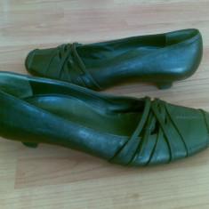 Pantofi din piele firma Paul Green marimea 39, aproape noi, arata impecabil! - Pantof dama Paul Green, Culoare: Negru, Cu talpa joasa