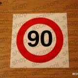sticker viteza 90 km