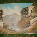 Pictura, ulei pe panza, semnata M. Ebevlen, anul 1980 (5) - Pictor strain, Peisaje, Realism
