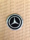 Emblema capac roata MERCEDES NEGRU  60 mm, Mercedes-benz