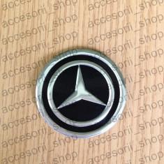 Emblema capac roata MERCEDES NEGRU 60 mm - Embleme auto, Mercedes-benz