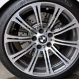 Capace bmw carbon 3d real gri la set de 4 bucati