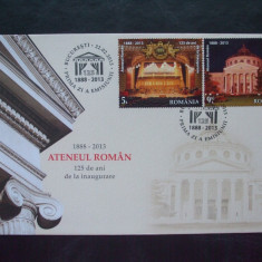 2013 Romania LP - 1968 FDC Ateneul Roman 25% din lista., Romania de la 1950, Muzica