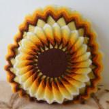 Perna decorativa floarea soarelui, 35 cm diametru