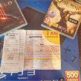 Ps3 Slim 500gb, 2 joystick +2 jocuri : Diablo 3 & God of war Ascension - PlayStation 3 Sony
